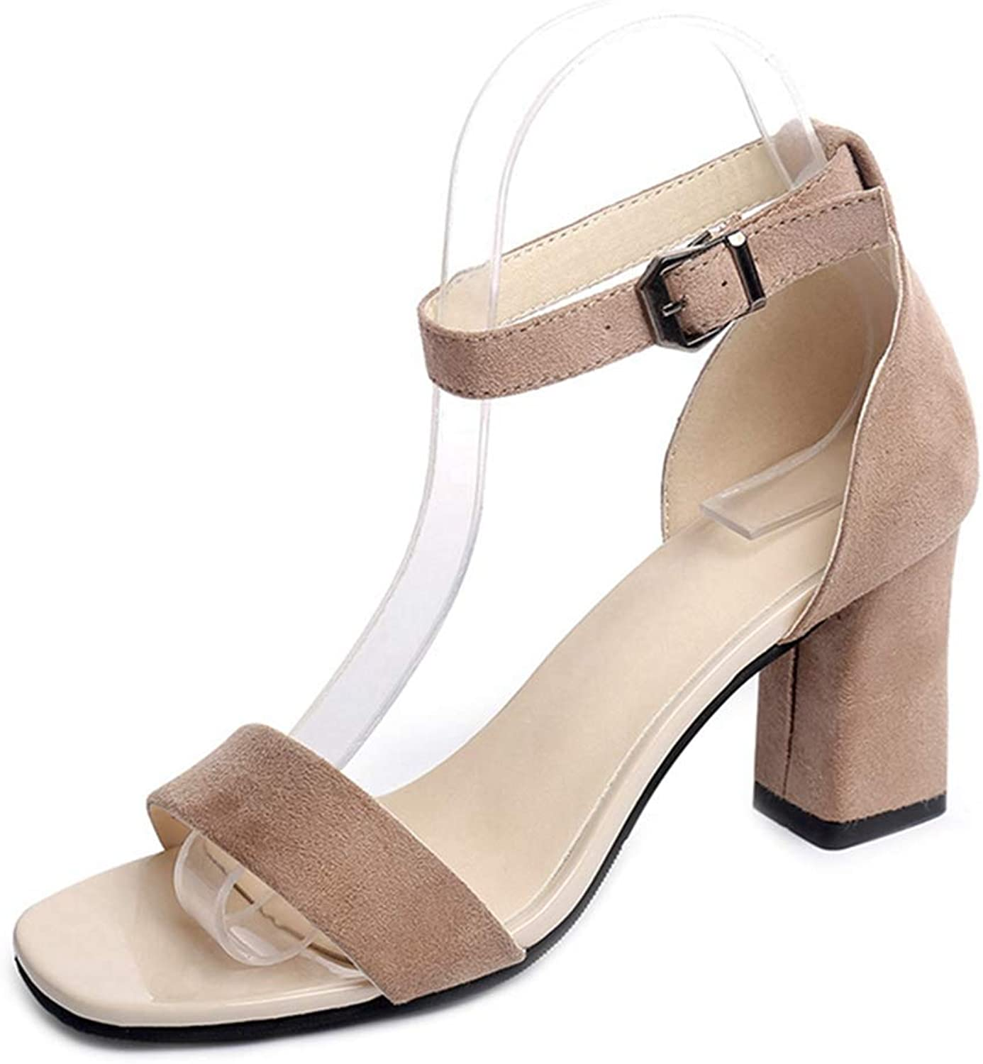 Ladies shoes Thick High Heel Sandal Party Women's Square Heels Ankle Strap Summer Open Toe Sandals