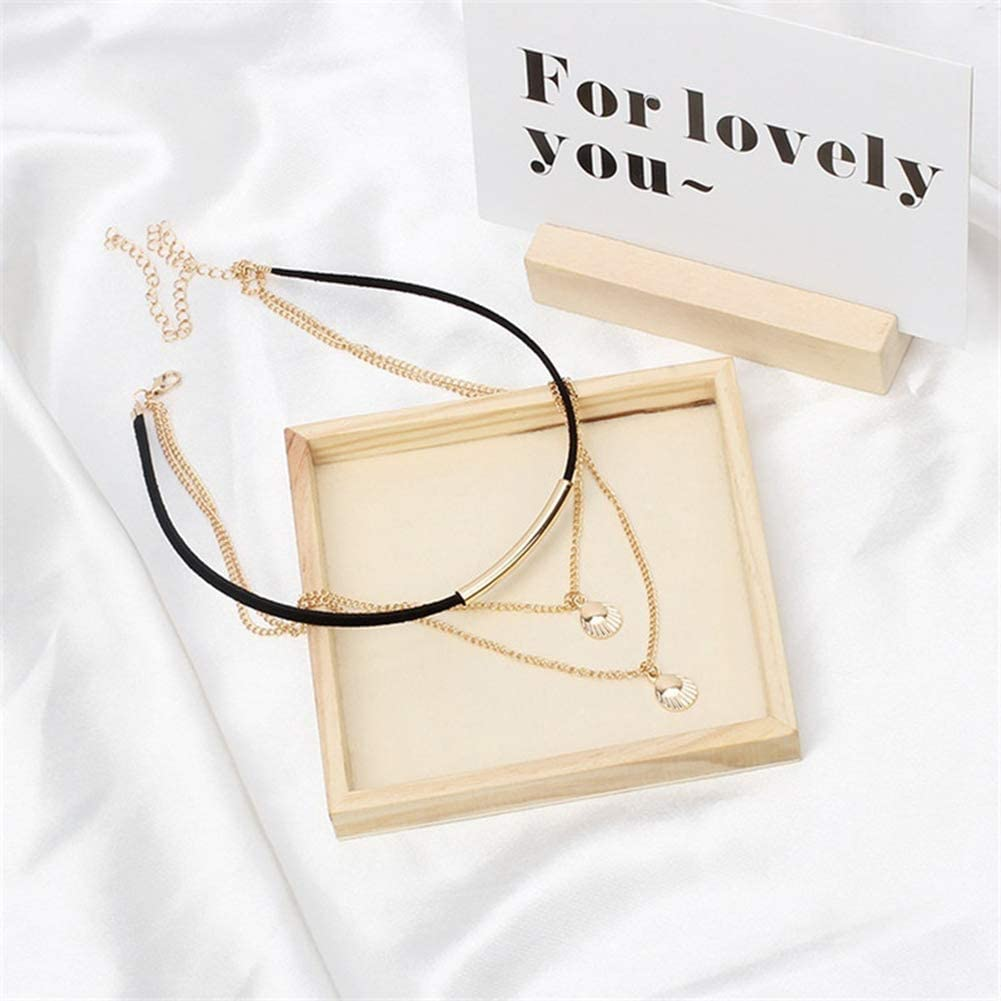 Urns Ashes Funeral Charming Necklace for Women & Fashion Women Charm Jewelry Multi-Layer Shell Pendant Chain Choker Necklace, Best Gift for Her,Colour:Golden Pet Memorial Dog cat Urn