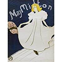 Toulouse-Lautrec Dancer May Milton Advert Extra Large Art Print Wall Mural Poster Premium XL アンリドトゥールーズロートレックダンサー広告大アート壁ポスター