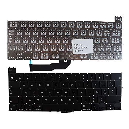Keyboards4Laptops Francés versión retroiluminada (sin Placa retroiluminado) Negro Teclado de Repuesto para...