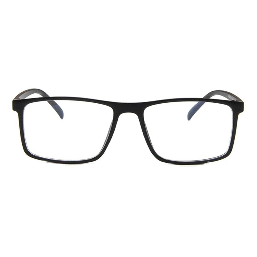 全体ノミネート障害レトロフラットメガネファッション人格眼鏡フレーム近視眼鏡韓国ファッション学生眼鏡フレーム-マットブラック