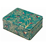 Sara Miller - Green Birds Deep Rectangular Tin
