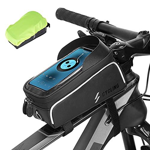 ROCKBROS Bike Frame Bag Bicycle Cell Phone Holder Bike Top Tube Bag Pouch...