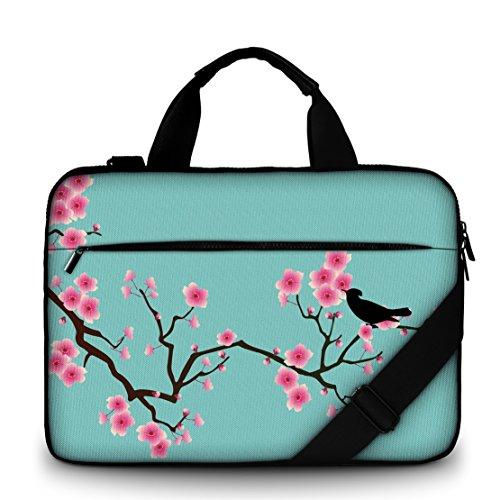 Sidorenko 15-15,6 Zoll Laptoptasche | Laptop Umhängetasche - Computer - Notebook-Schultertasche aus Canvas Schmutz- & Wasserabweisend | Notebook-Tasche mit Außentasche für Zubehör