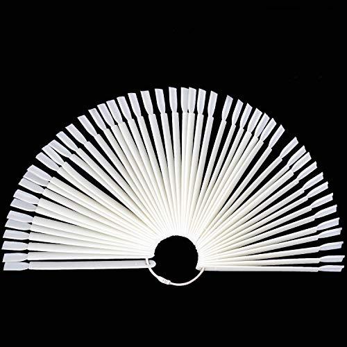 3 Set Total 150 Conseils Échantillons d'ongles naturels Bâtons Nail Art Supplies pour Nail Art Polish Display et Home DIY