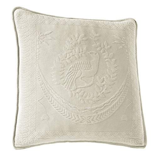 Historic Charleston 13995020X020IVY King Charles Matelasse 20-Inch by 20-Inch Decorative Pillow, Ivory