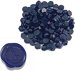 Premium Sealing Wax Beads 400-count in Tin with Melting Spoon-Navy Blue