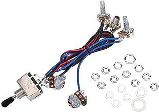 Zinniaya 1 Set Complet LP SG Guitare /électrique Pickup c/âblage c/âblage potentiom/ètres kit Remplacement Interrupteur /à 3 Voies Guitare Accessoires