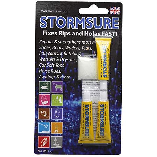Stormsure BLACK Flexible Repair Adhesive 3 5g tubes