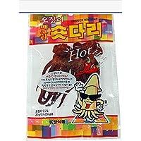 New Hot Spicy Short-da-ri Dried Squid Short Tentacles Jerky Seafood Snack 20g X 50 Counts (50pcs)