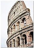 Panorama Póster Coliseo de Roma 50x70cm - Impreso en Papel 250gr - Póster Pared - Láminas para Enmarcar - Cuadros Decoración Salón - Pósters Decorativos - Cuadros Modernos