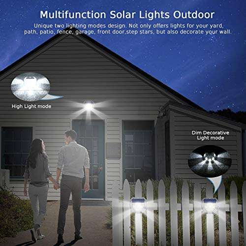 Solar Motion Sensor Light Outdoor, Lantoo 40 LEDs Solar Lights Outdoor, IP65 Waterproof Solar Security Decorative Wall Lights 270° Wide Angle for Step Stair, Yard, Path, Patio, Fence, Garage (2 Pack)
