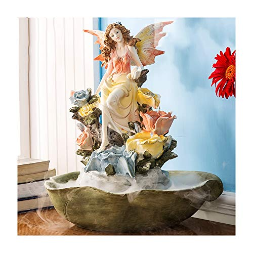 LUYIYI Wedding Gift Creative European TV Cabinet Living Room Home Decorations Water Fountain Ornaments Housewarming New Home Gifts (Color : Pink)