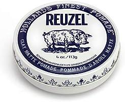 Reuzel - Clay Matte Pomade - Griffiger, mittlerer Halt - kein Glanz - wasserlöslich - voluminöse Textur und Höhe -...