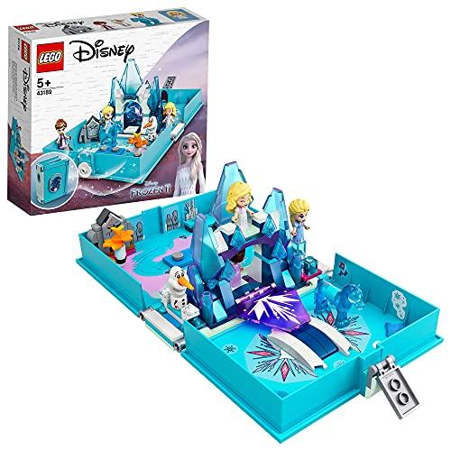 LEGO 43189 DisneyPrincess LesAventuresd'ElsaetNokkdansUnLivredeContes, Jeu portatif de Voyage pour Enfants