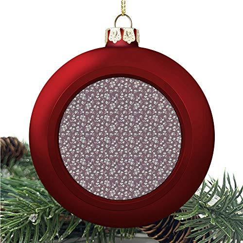 aosup Vintage Floral Nostalgia/Christmas Ball Ornaments 2020 Christmas Pendant Personalized Creative Christmas Decorative Hanging Ornaments Christmas Tree Ornament №AM032778