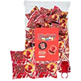 Ring Pop Individually Wrapped Back to School Red Cherry Party Pack – 30 Count Cherry Flavored Red Candy Lollipop Suckers - Red Candy for School Treats & Care Packages