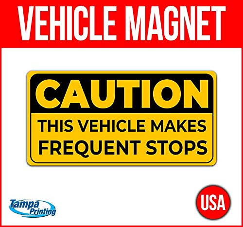 Frequent Stops Vehicle Magnet, 30 mil Thick Magnetic Vinyl, Rounded Corners, Advertising Magnet, Removable, Car Magnet, Truck Magnet, Fleet Magnet, Flexible, New, Advertising, USA