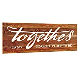 OYEFLY Rustic Farmhouse Wall Decor Together is My Favorite Place to Be Wood Signs (Yellowish Brown)
