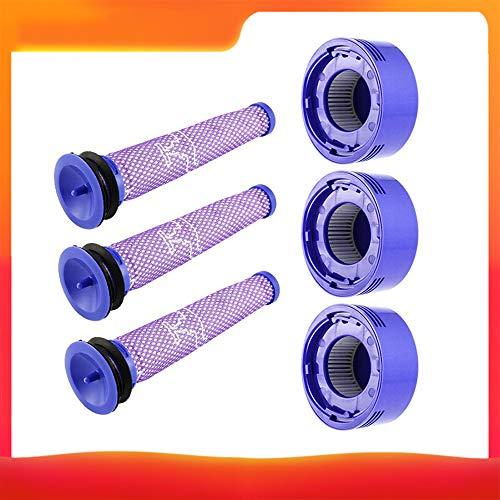 Festnight filteraccessoires-kit Compatibel met D-yson V7 / V8-stofzuiger reserveaccessoires (3 * voorfilter net + 3 * filter net) voor huishoudelijke reiniging
