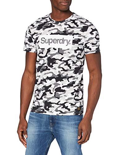 Superdry Cl tee Camiseta, Mono Camo, L para Hombre