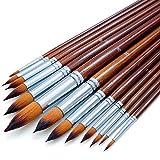 Artist Watercolor Paint Brushes Set 13pcs - Round...