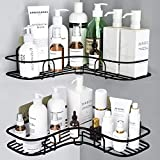 Get 5% discount by applying coupon for YOLETO 2Pack Corner Shower Caddy, Bathtub Organizer Shelf for Storage Drill Free Bath Rack Adhesive Wall Mounted Shelves Holder for Bathroom and Kitchen (Black). Save $1.01.