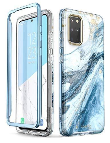 i-Blason Handyhülle für Samsung Galaxy S20+ Plus Hülle Glitzer Case Bumper Schutzhülle Glänzend Cover [Cosmo] 6.7 Zoll OHNE Displayschutz 2020 Ausgabe, Blau