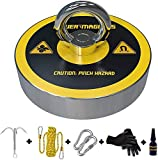 Magnet Fishing Kit | Fishing Magnet Complete Fishing Magnets Set with 330LBS Magnet, Thicker Rope and Large Grappling Hook