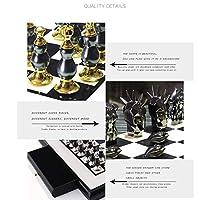 高級国際チェスセットチェスボード、ノルディックスタイルのチェスの装飾品、ファインワークマンシップユニークな技術,D