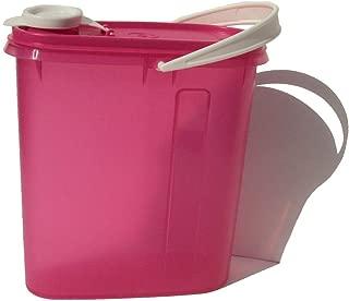 Tupperware 2 Quart Slim Line Refrigerator Pitcher Beverage Buddy Container Fuchsia Pink