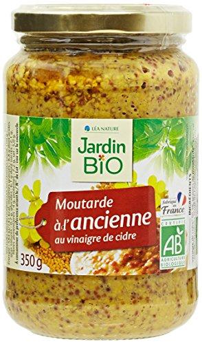 Jardin Bio Moutarde à l'Ancienne au Vinaigre de Cidre 350 g - Lot de 3