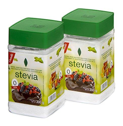Castelló Since 1907 Edulcorante Stevia + Eritritol 1:2 - Paquete de 2 x 300 gr - Total: 600 gr