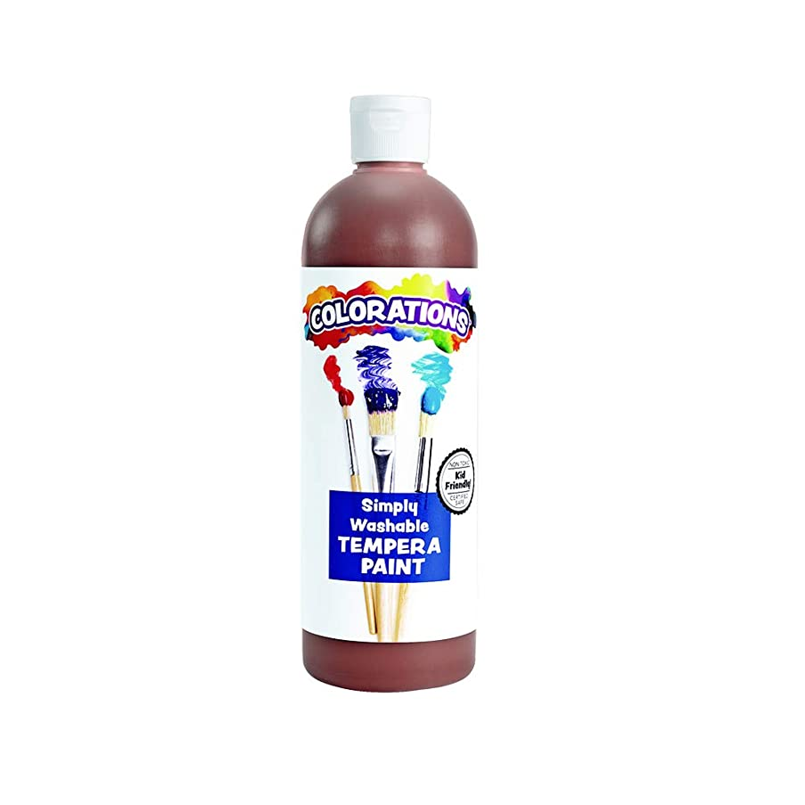 Colorations WSTBR Brown Simply Washable Tempera, 16oz.