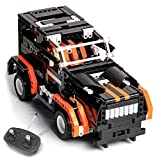 Brixtoys Bay Q-Man Ingenious Juguetes Técnica Mecánico Maestro R/C Bloque Coche 2-in-1 Negro Jeep Kit R/C Vehículo / Set Construcción #8XX1