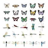 TOYANDONA 2 set libellula e farfalla adesivi da parete per bambini adesivi da parete adesivi da parete decorazione da parete per scrapbooking album da collezione Album Laptop bagaglio diario