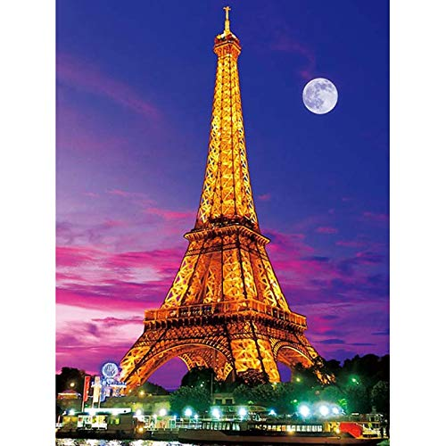 AJleil Jigsaw puzzle 1000 piece Painting decoration picture paris eiffel tower pattern jigsaw puzzle 1000 piece animals Great Holiday Leisure,Family Interactive Games50x75cm(20x30inch)