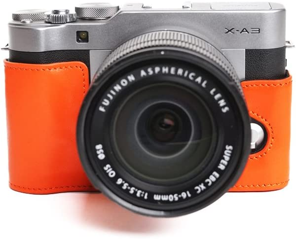TP Handmade Genuine Real Leather Case for Camera Half Bag At the price of surprise Excellent