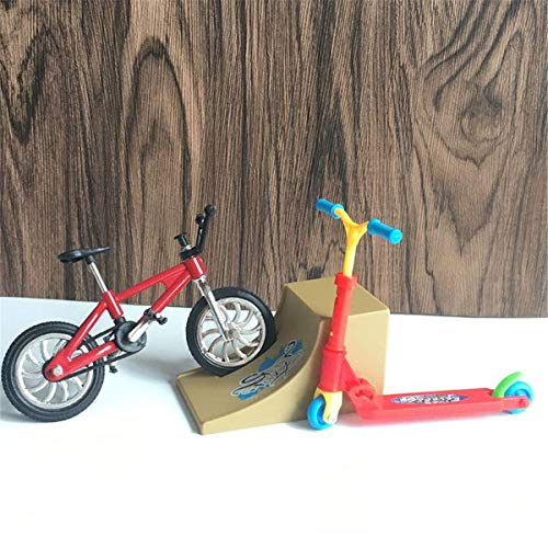 Iwinna 1 Set Mini Scooter Two Wheel Scooter Children's Educational Toys Finger Scooter Bike