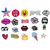 R.B.Y. Special100% Acrylic Brooches Set of Lovely Cute pins,Lapel pin,Cool Pins for Clothes,pin,pins for Backpacks,Bags,Badges,Hats,Jeans, Jacket and More.(20 Pieces)