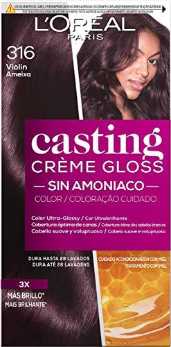 L'Oreal Paris Casting Crème Gloss Coloración Sin Amoniaco, Tono: 316 Violéin