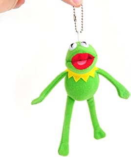 YGMONER Frog Plush With Long Leg 6.2 Inch Eye-catching Keychain