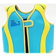 Rayma 2016 Babies Cute Cartoon Style Life Jacket Swimwear Folding Life Vest For Children's Water Sports & Games Equipment as a buoyant-aid-tool Cute Whale Print Style Colour Blue