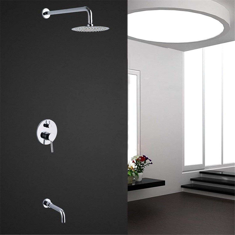 Willsego In-Wand-Grünckter Dusche-Hahn-einzelner Griff mit Wasser-Dusche-Dusche-Dusche-Doppelt-Aufzug-Dusche-Hahn (Farbe   -, Gre   -)