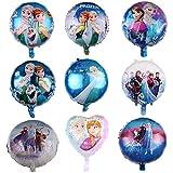 BAIBEI Decoración de globos de papel de aluminio, juego de globos de colores, utilizado para cumpleaños, decoración de fondo, centro comercial, decoración de fiesta de cumpleaños para niños