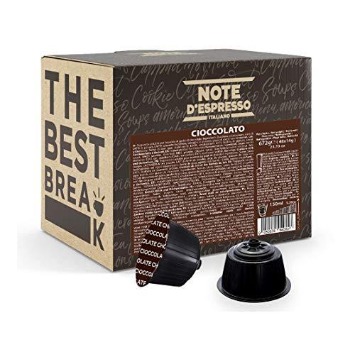 Note d'Espresso - Lot de 48 capsules de chocolat - Exclusivement compatible avec les machines Nescafé* et Dolce Gusto* - Chocolat - 48 x 14 g