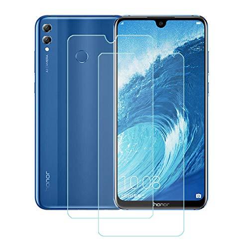 """YZKJ 2 Piezas Protector de Pantalla para Huawei Honor 8X MAX,Cristal Templado de Resistente a Arañazos 9H Dureza Cristal Vidrio Templado Protector para Huawei Honor 8X MAX (7.12"""")."""
