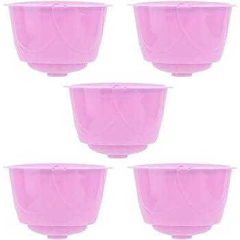 Jeffergarden Filtro de Taza de cápsula de máquina de café Recargable Reutilizable de 5 Piezas Apto para cafetera Dolce Gusto(Púrpura): Amazon.es: Hogar