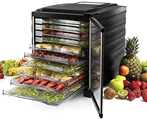 LJJOO Deshidratador de alimentos saludables | 10 bandejas |Secadora de carne frutal, Máquina de secado for el hogar Commercial PET Snacks Alimentos deshidratadores, Free BPA Deshidratadores