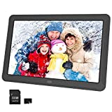 Atatat Digital Picture Frame 8 Inch with 1920x1080 IPS Screen, 32GB SD Card, Digital Photo Frame Support 1080P Video, Music, Photo Slideshow, Adjustable Brightness, Auto-Rotate,Breakpoint Play,Remote